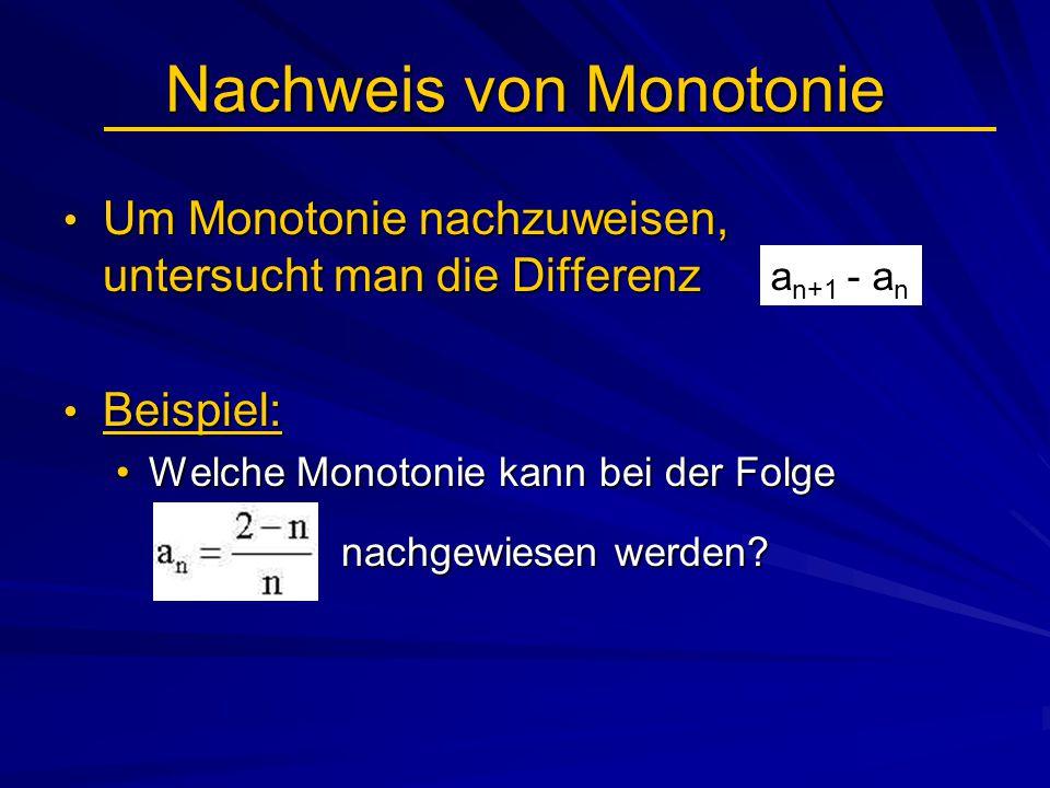 Nachweis von Monotonie