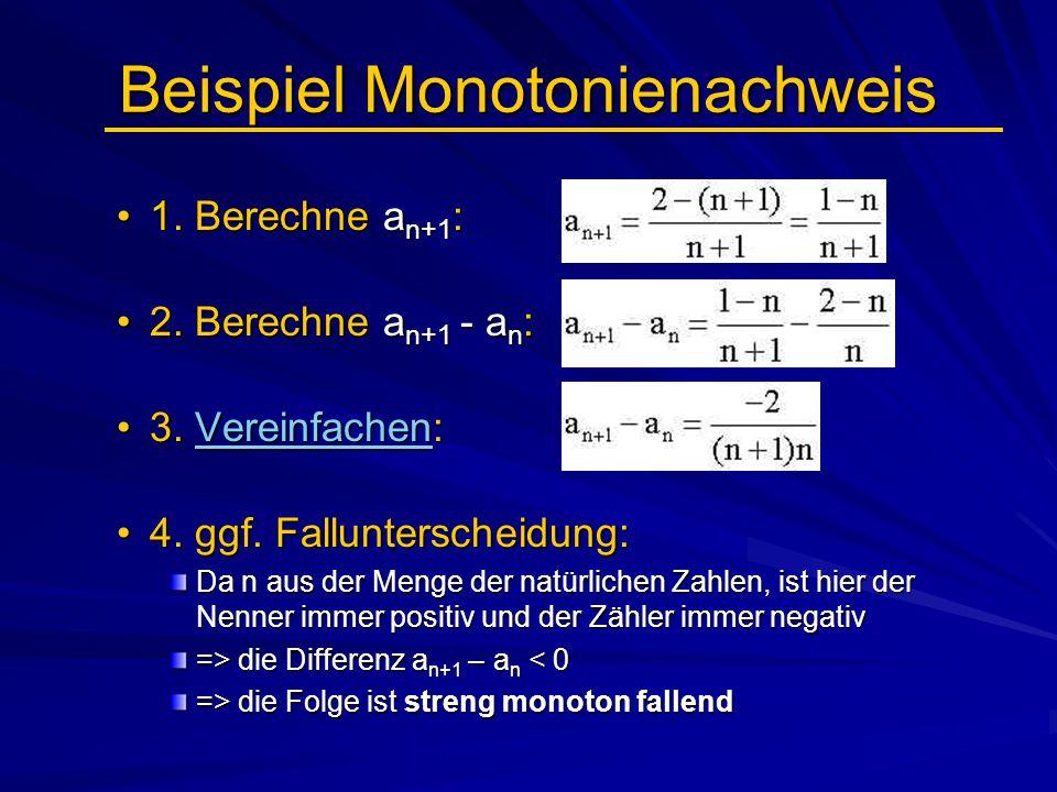 Beispiel Monotonienachweis