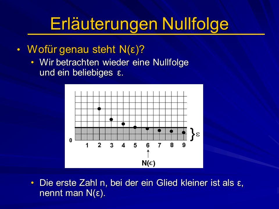Erläuterungen Nullfolge