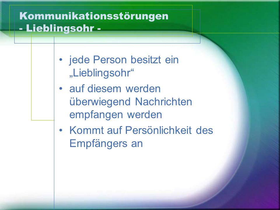 Kommunikationsstörungen - Lieblingsohr -