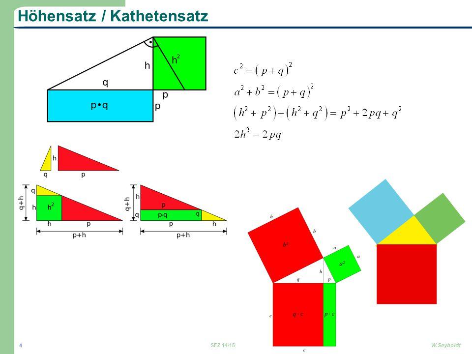 Höhensatz / Kathetensatz