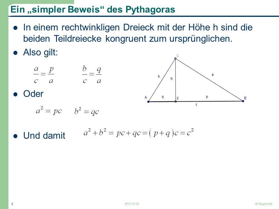 """Ein """"simpler Beweis des Pythagoras"""