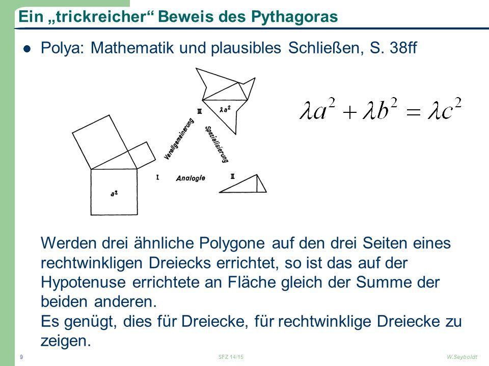 """Ein """"trickreicher Beweis des Pythagoras"""