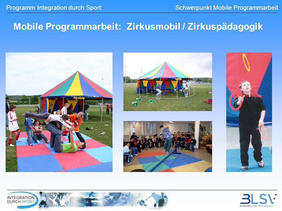 Mobile Programmarbeit: Zirkusmobil / Zirkuspädagogik