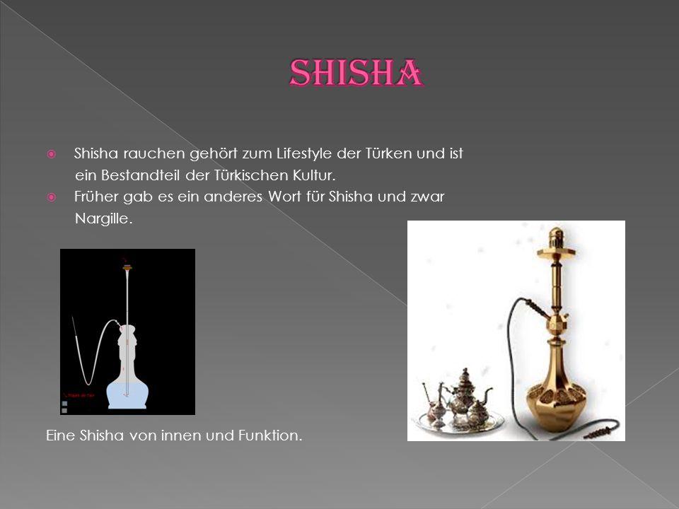 Shisha Shisha rauchen gehört zum Lifestyle der Türken und ist