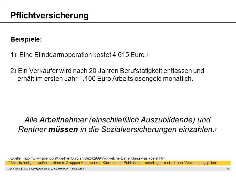 Solidaritätsprinzip Sämtliche Sozialversicherungen der Bundesrepublik unterliegen dem Solidaritätsprinzip.