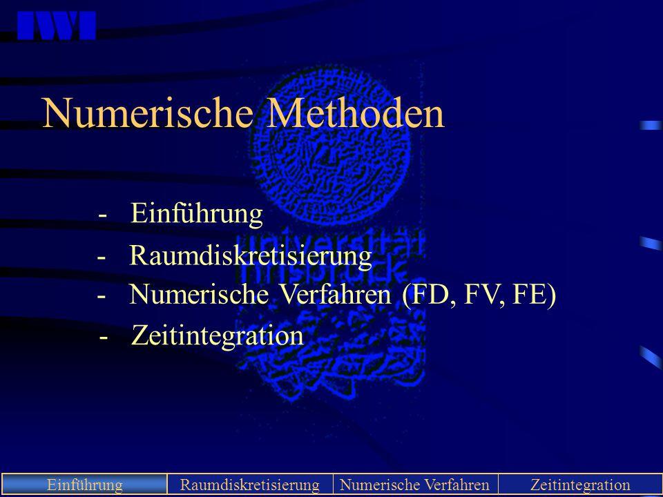 Numerische Methoden Einführung Raumdiskretisierung