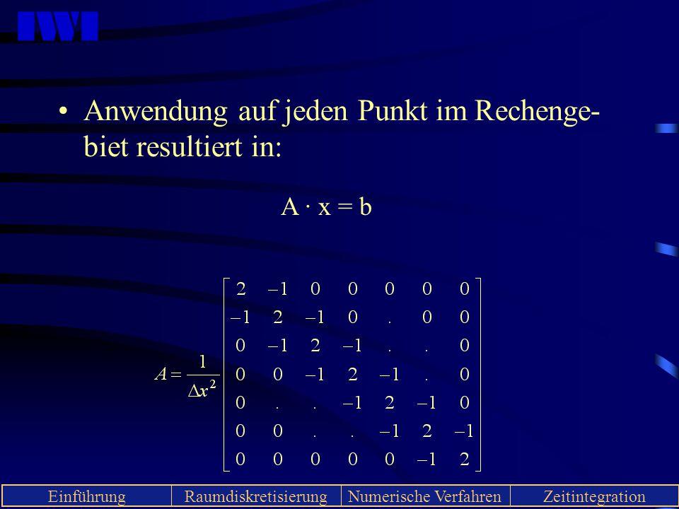 Anwendung auf jeden Punkt im Rechenge-biet resultiert in: