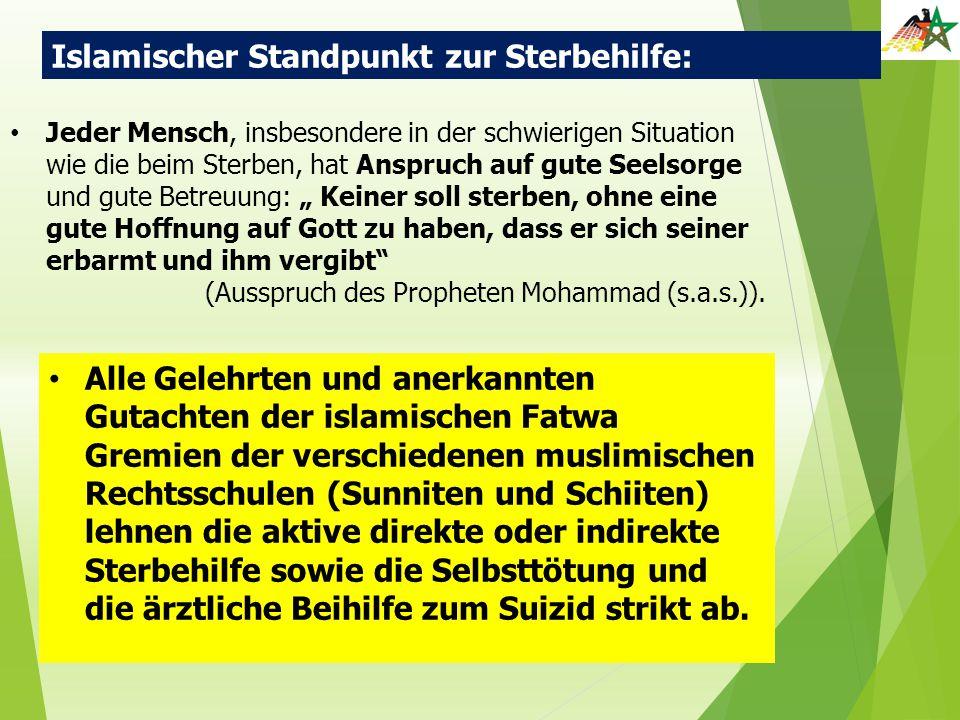 Islamischer Standpunkt zur Sterbehilfe: