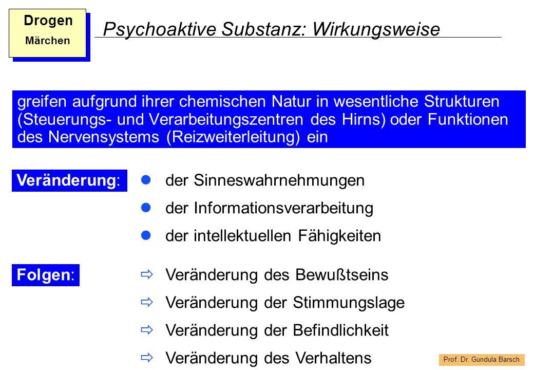Psychoaktive Substanz: Wirkungsweise