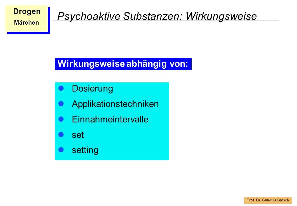 Psychoaktive Substanzen: Wirkungsweise