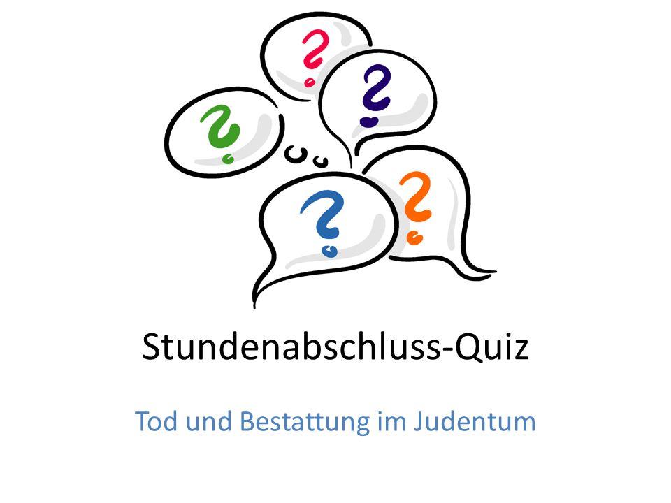 Stundenabschluss-Quiz
