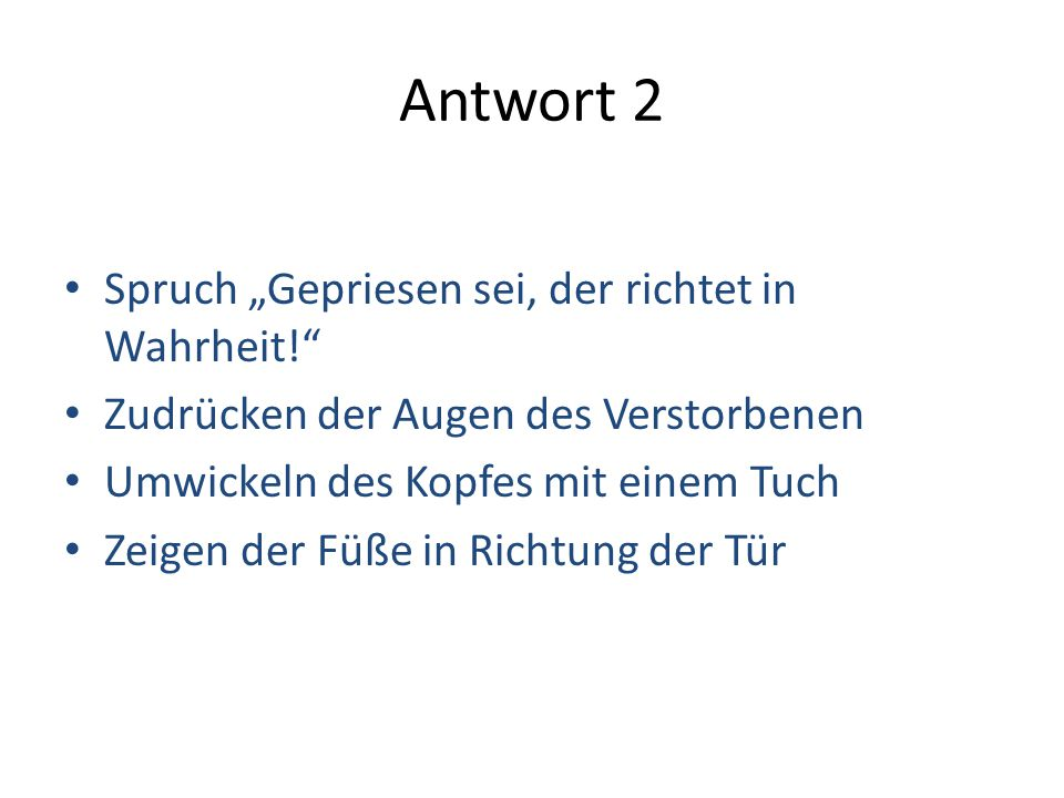 """Antwort 2 Spruch """"Gepriesen sei, der richtet in Wahrheit!"""