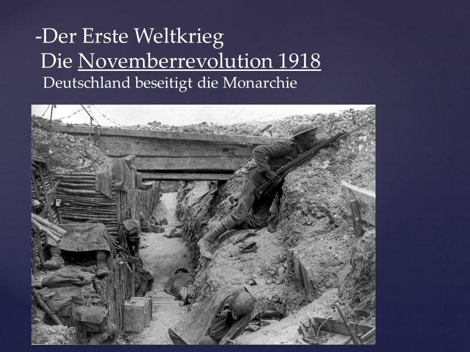 Die Novemberrevolution 1918