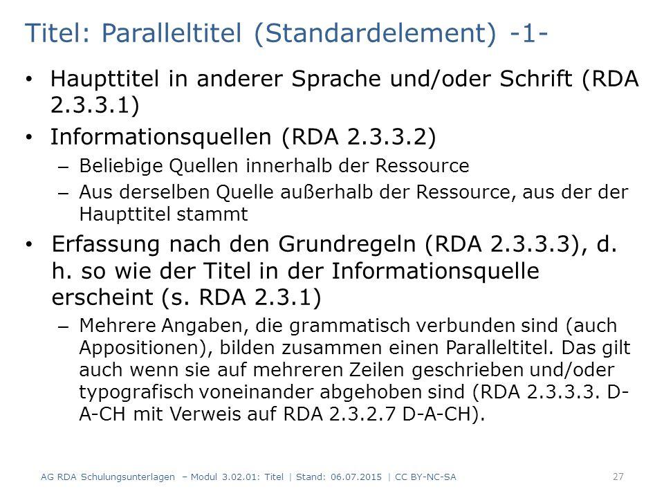 Titel: Paralleltitel (Standardelement) -1-