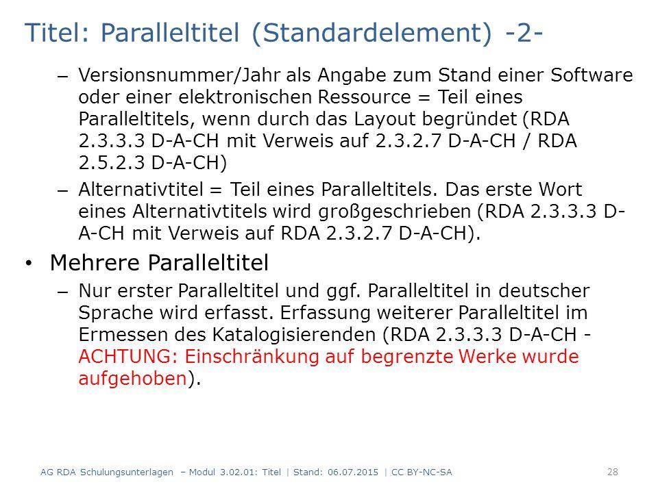 Titel: Paralleltitel (Standardelement) -2-