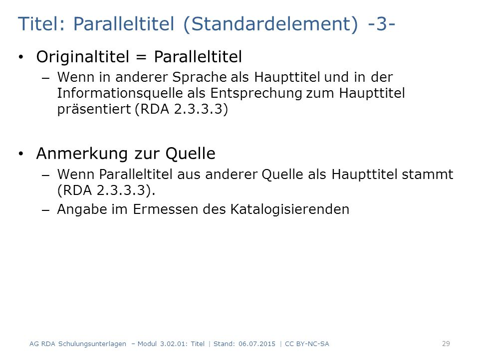 Titel: Paralleltitel (Standardelement) -3-