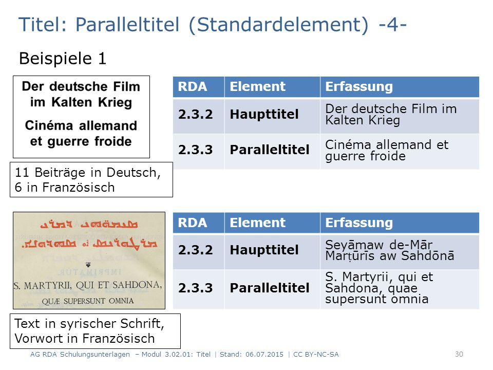 Titel: Paralleltitel (Standardelement) -4-