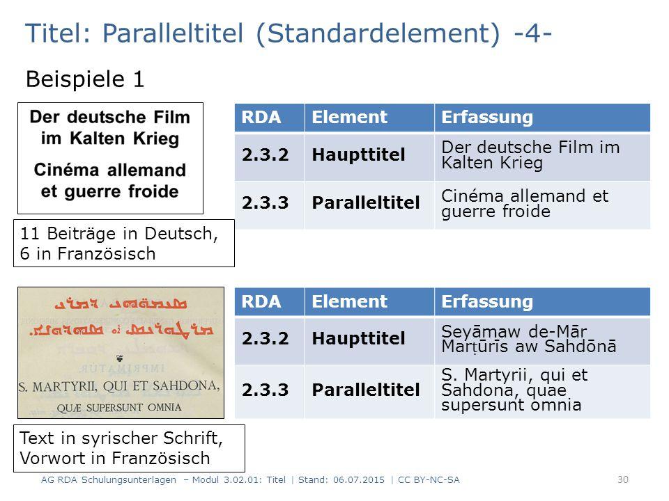 Titel: Paralleltitel (Standardelement) -4-