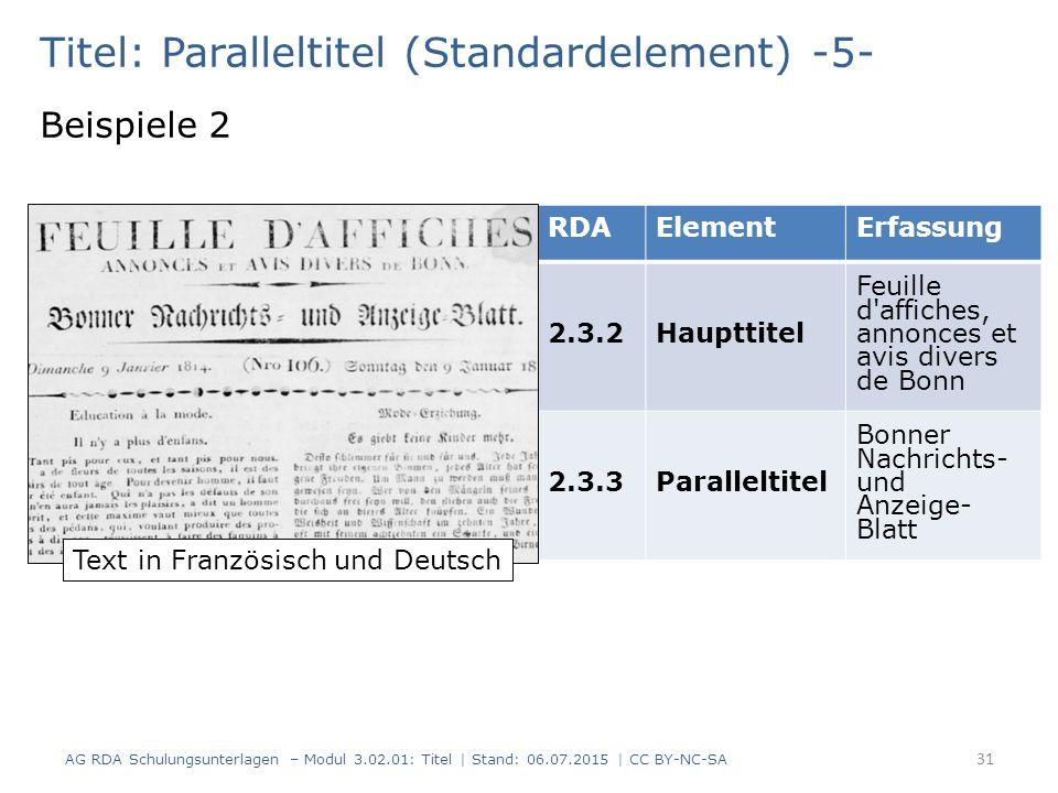 Titel: Paralleltitel (Standardelement) -5-
