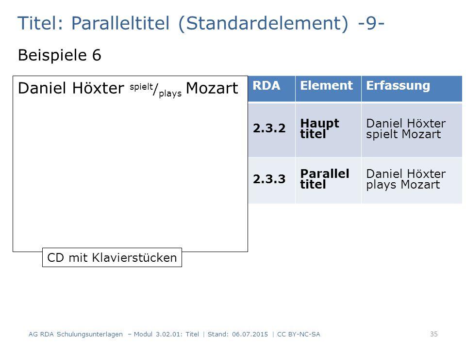 Titel: Paralleltitel (Standardelement) -9-