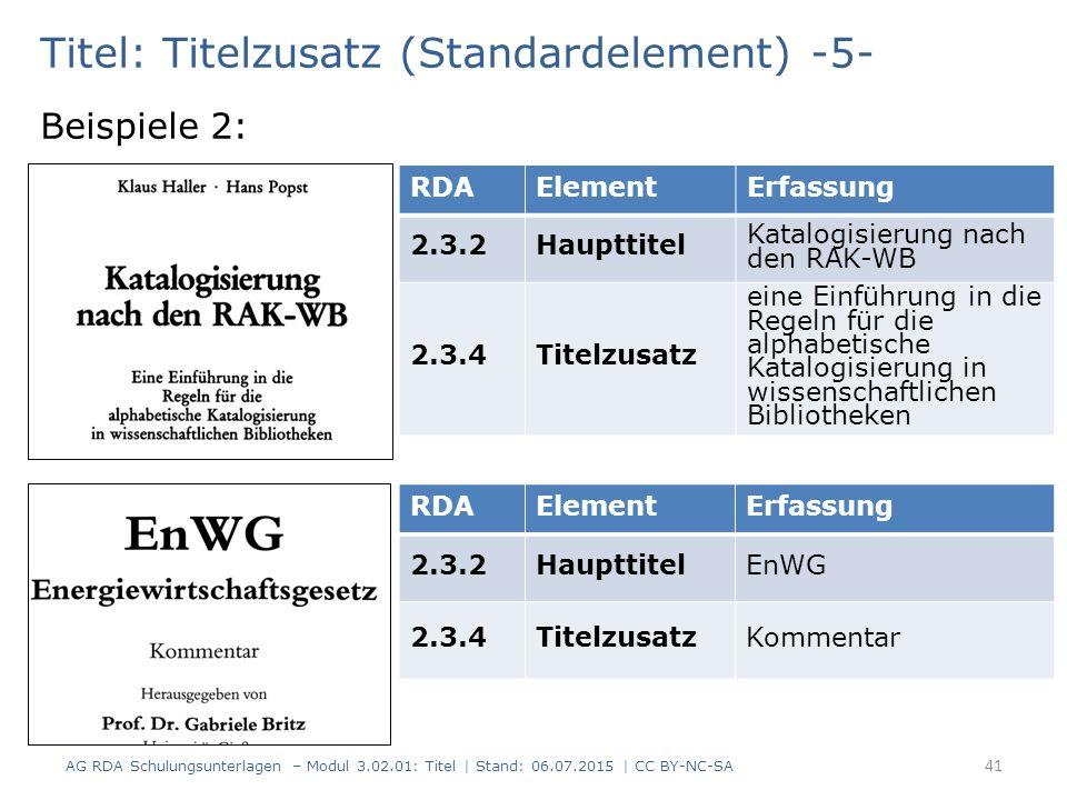 Titel: Titelzusatz (Standardelement) -5-