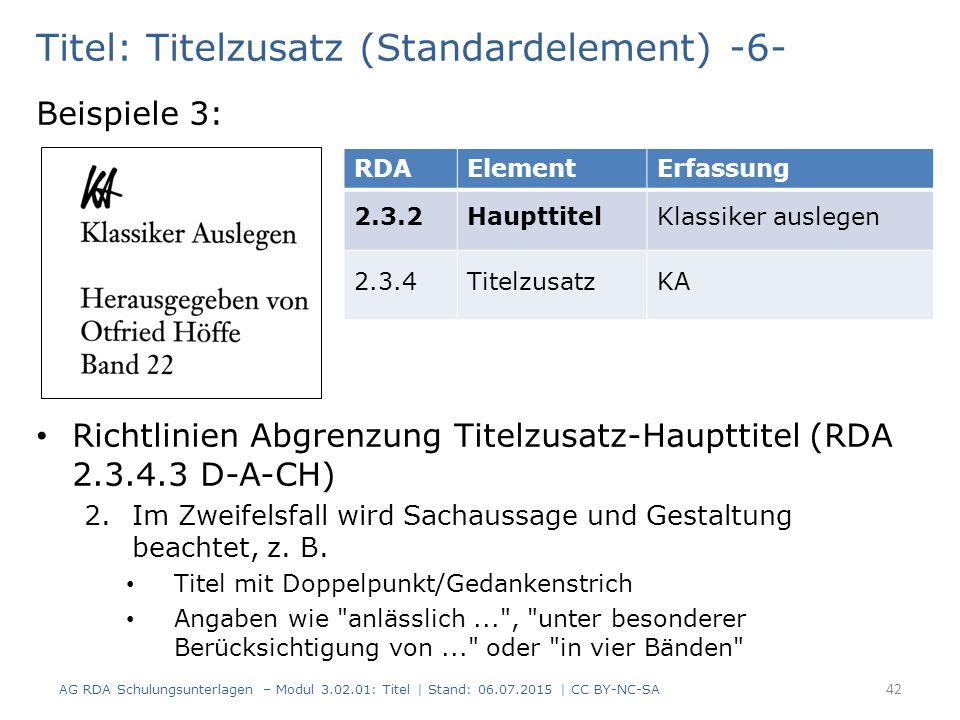 Titel: Titelzusatz (Standardelement) -6-