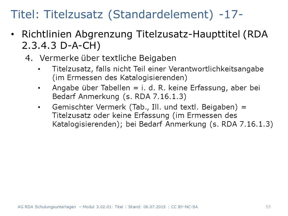 Titel: Titelzusatz (Standardelement) -17-