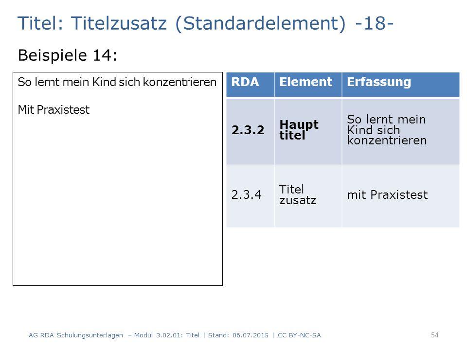 Titel: Titelzusatz (Standardelement) -18-
