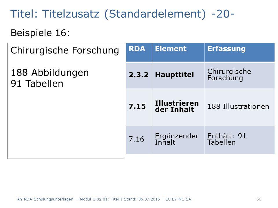 Titel: Titelzusatz (Standardelement) -20-