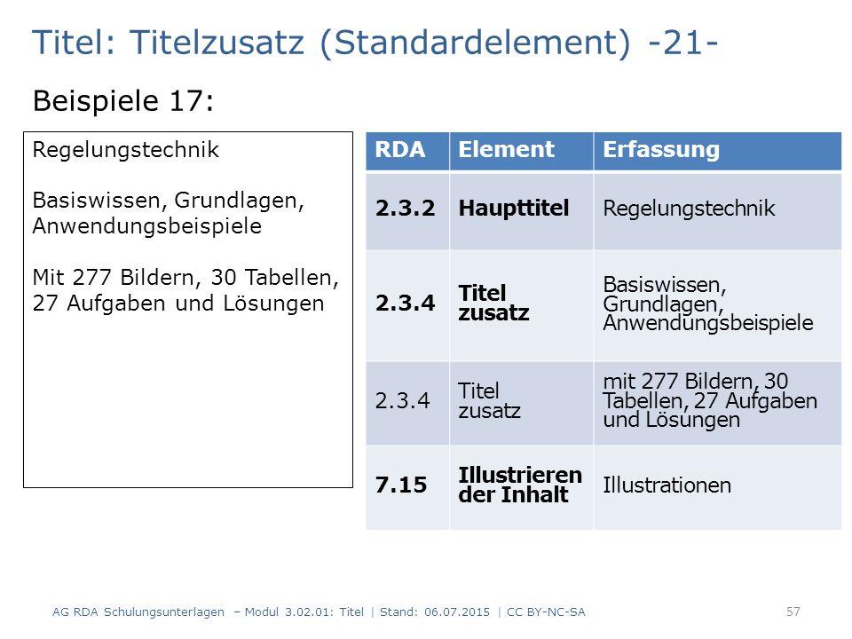 Titel: Titelzusatz (Standardelement) -21-