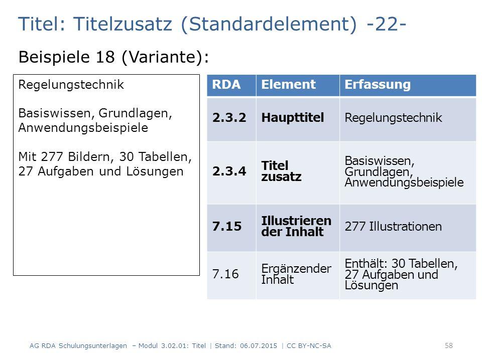 Titel: Titelzusatz (Standardelement) -22-