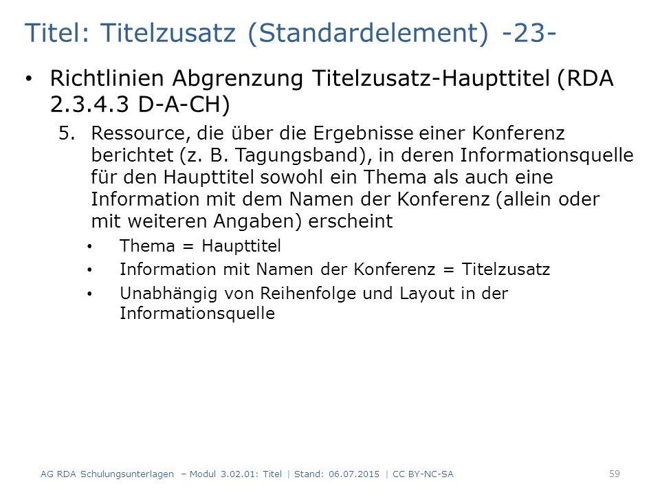 Titel: Titelzusatz (Standardelement) -23-