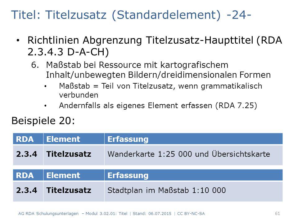 Titel: Titelzusatz (Standardelement) -24-