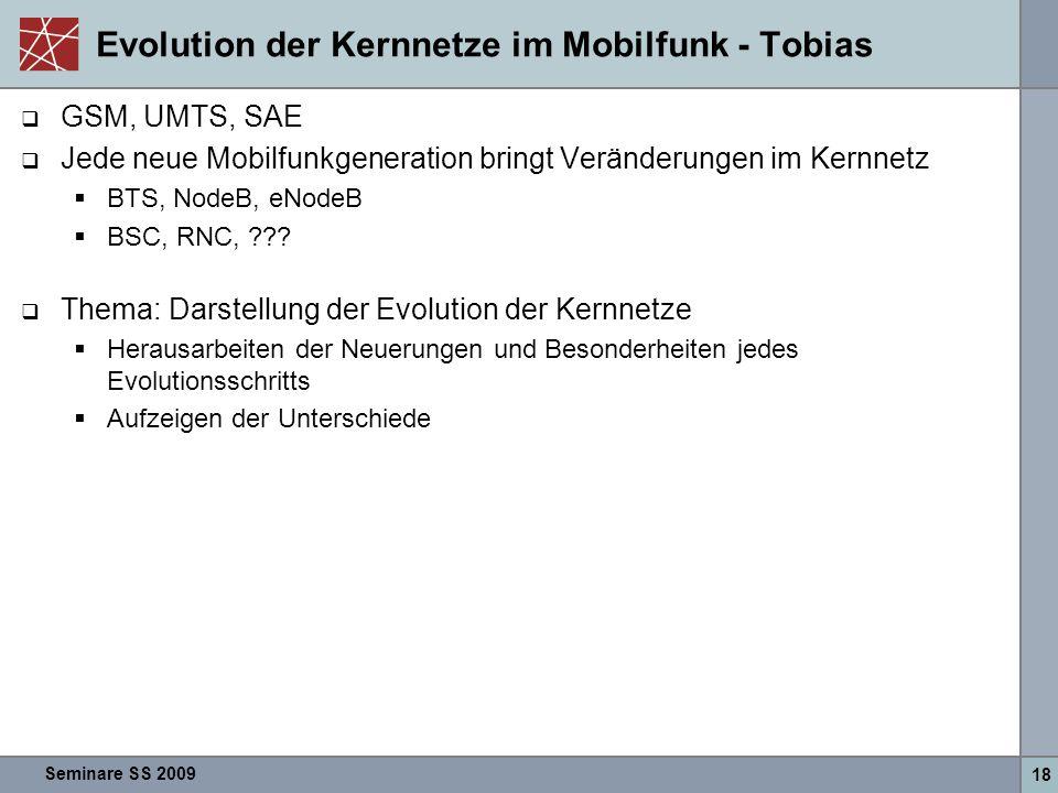 Evolution der Kernnetze im Mobilfunk - Tobias