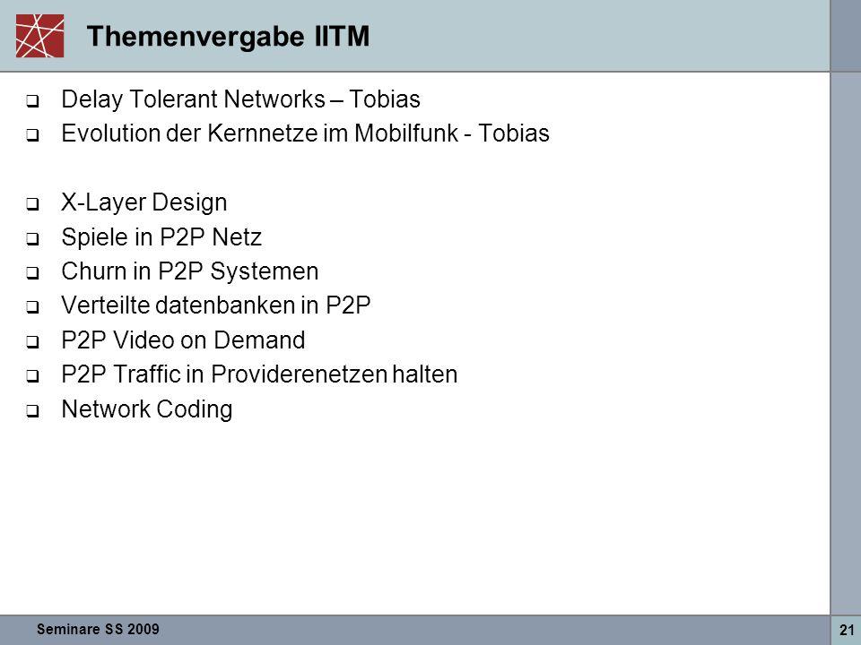 Themenvergabe IITM Delay Tolerant Networks – Tobias