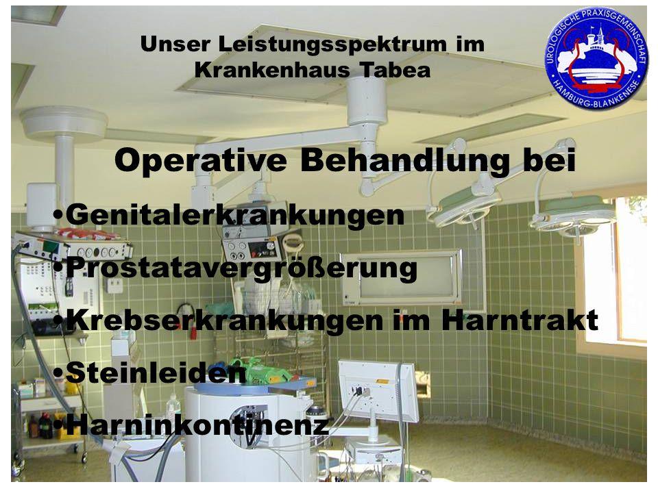 Operative Behandlung bei