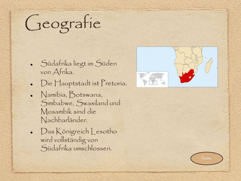 Geografie Südafrika liegt im Süden von Afrika.