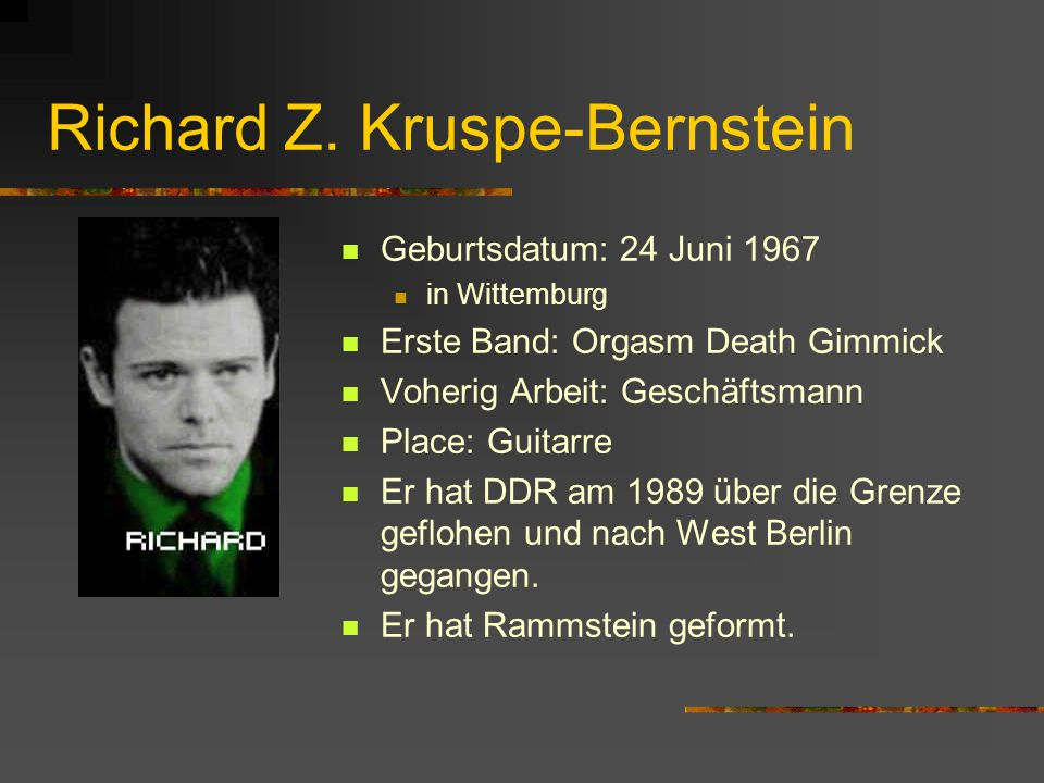 Richard Z. Kruspe-Bernstein