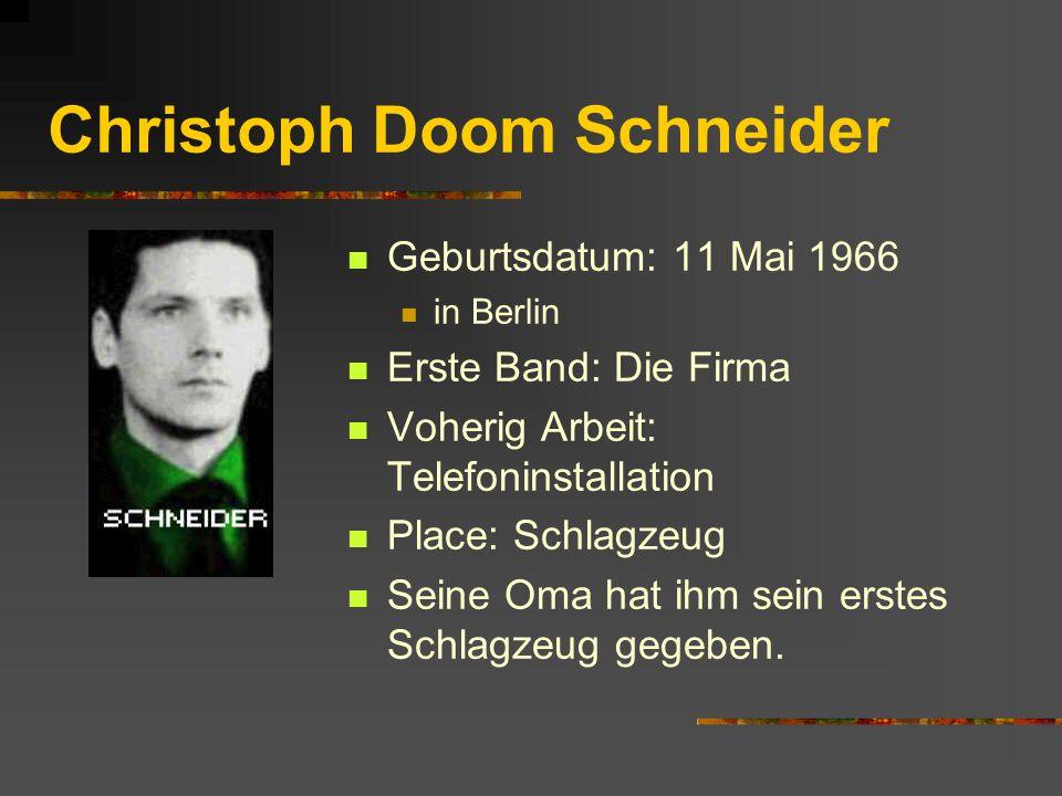 Christoph Doom Schneider