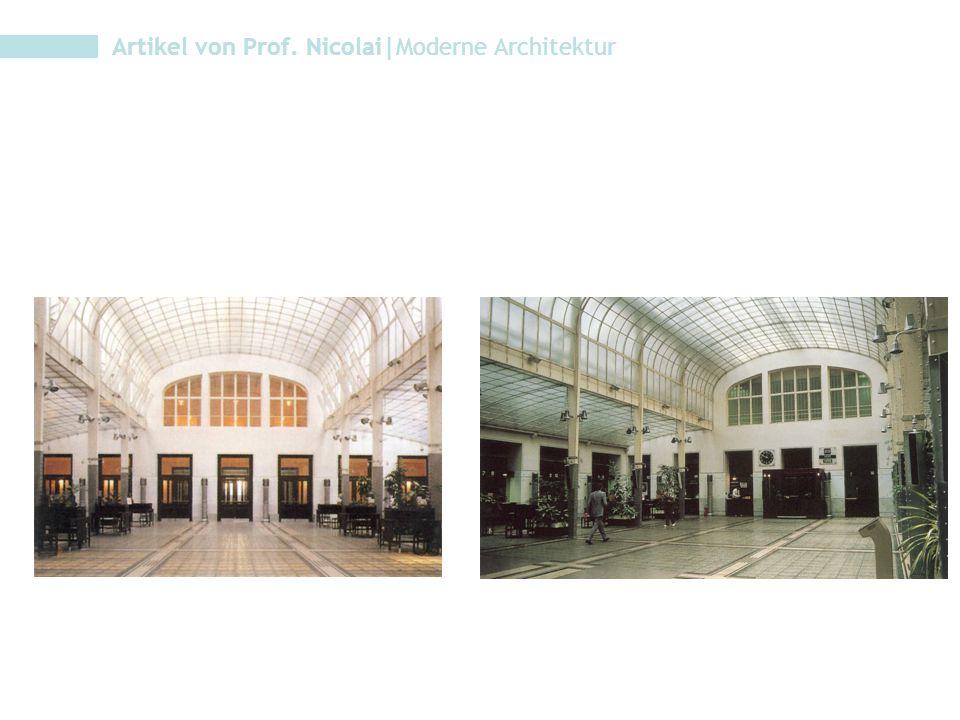 Artikel von Prof. Nicolai|Moderne Architektur