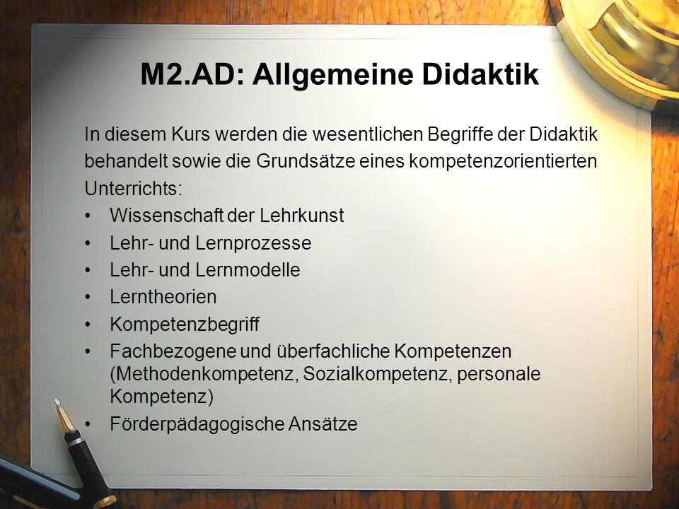 M2.AD: Allgemeine Didaktik