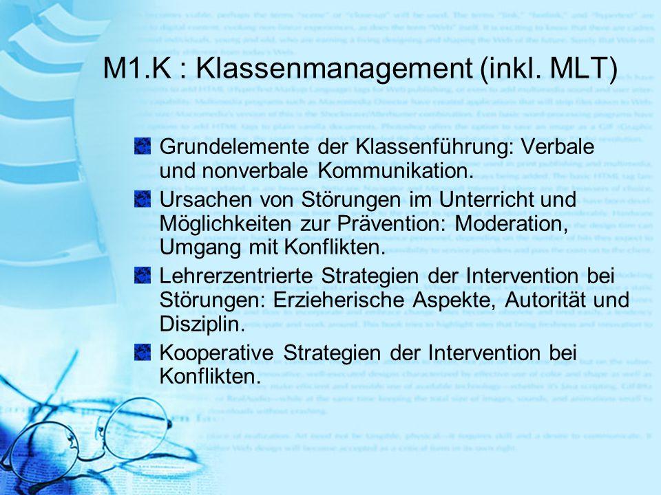 M1.K : Klassenmanagement (inkl. MLT)