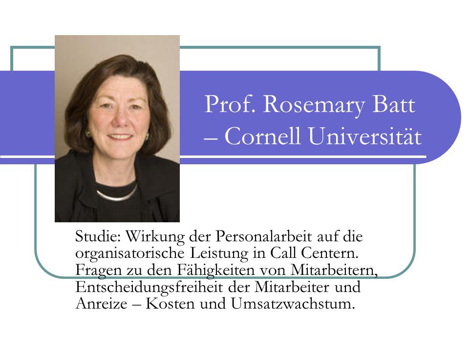 Prof. Rosemary Batt – Cornell Universität