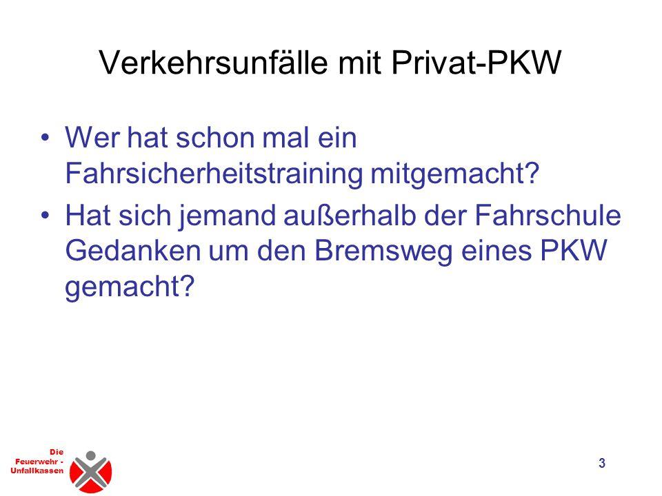 Verkehrsunfälle mit Privat-PKW