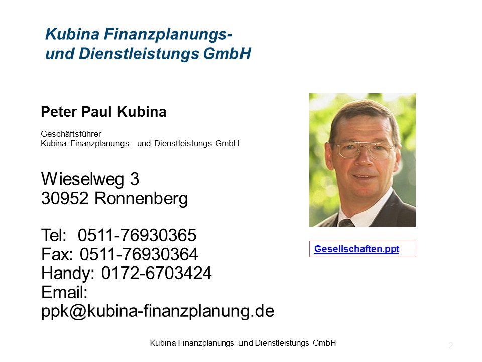 Kubina Finanzplanungs- und Dienstleistungs GmbH
