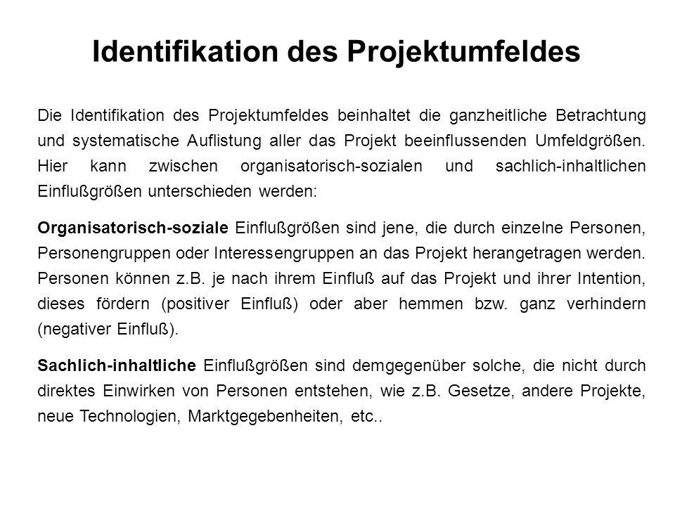 Identifikation des Projektumfeldes