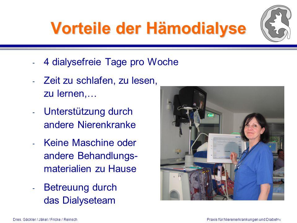 Vorteile der Hämodialyse