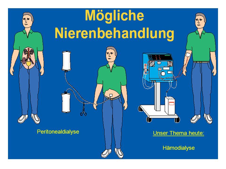 Peritonealdialyse Unser Thema heute: Hämodialyse
