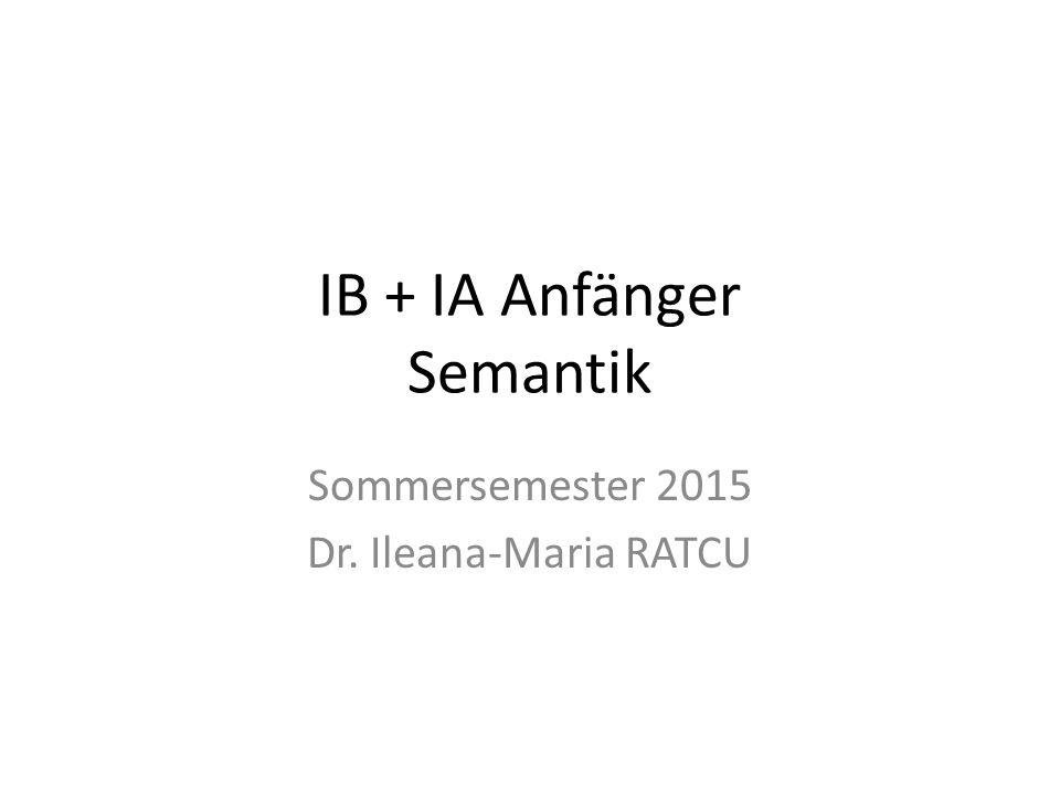 IB + IA Anfänger Semantik